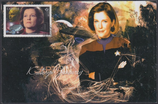 CANADA # 2989.4 STAR TREK 50TH ANN KATHRYN JANEWAY  on MAXIMUM CARD IV